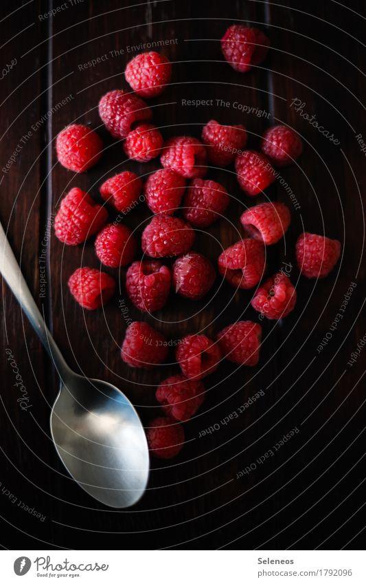 fresh raspberries Food Fruit Dessert Raspberry Nutrition Organic produce Vegetarian diet Diet Healthy Fitness Life Agricultural crop Spoon Delicious