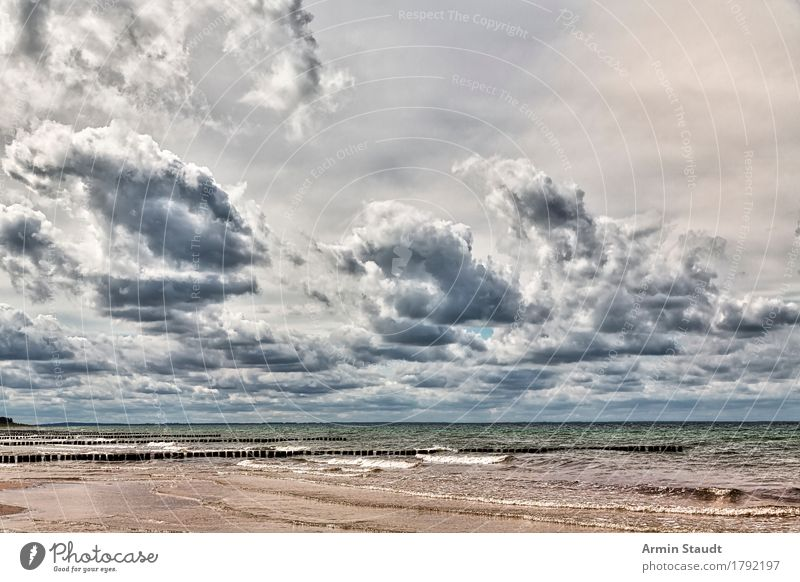 Baltic Sea landscape Vacation & Travel Adventure Far-off places Freedom Summer vacation Beach Ocean Island Environment Nature Landscape Sand Air Water Clouds