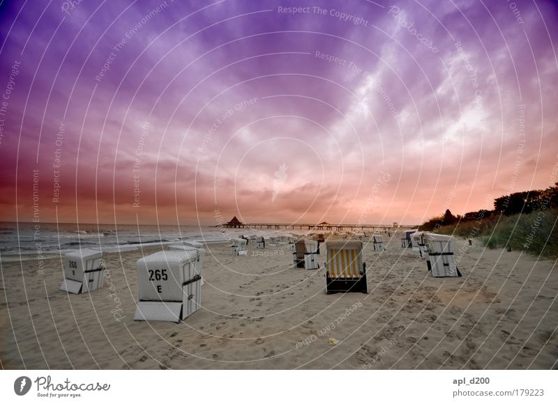 beach beauty Colour photo Exterior shot Experimental Abstract Copy Space top Evening Twilight Sunlight Sunrise Sunset Deep depth of field Wide angle Environment
