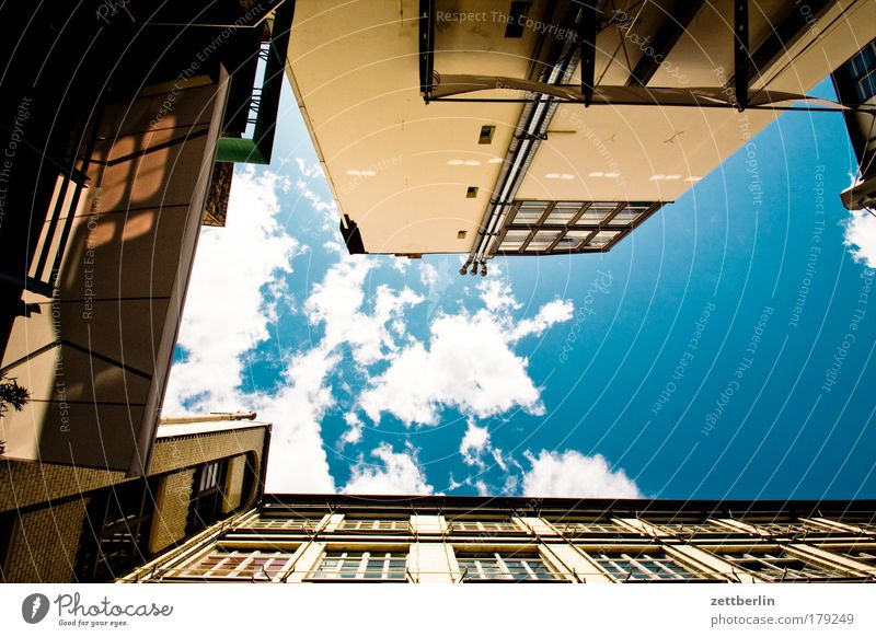 Sky House (Residential Structure) Clouds Backyard Vertical New building
