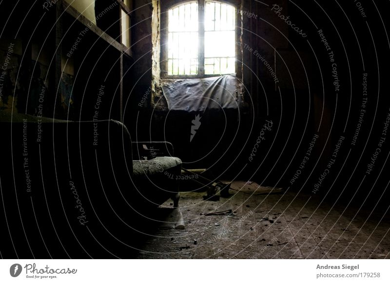 Old House (Residential Structure) Black Dark Window Sadness Building Room Dirty Flat (apartment) Penitentiary Gloomy Broken Simple Decoration Living or residing