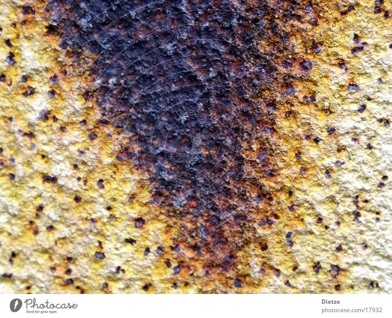 Yellow Brown Metal Rust