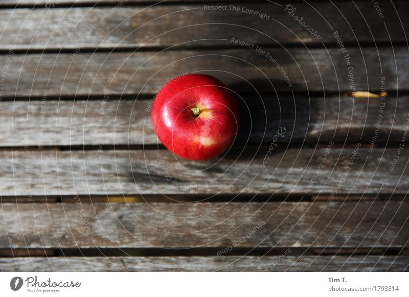 autumn apple Food Fruit Apple Nutrition Organic produce Nature Autumn Garden Environment Red Table Colour photo Exterior shot Deserted Copy Space left
