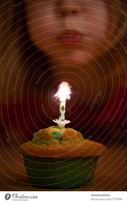Human being Child Green Red Girl Joy Yellow Food Head Warmth Happy Infancy Birthday Warm-heartedness Blow Flame