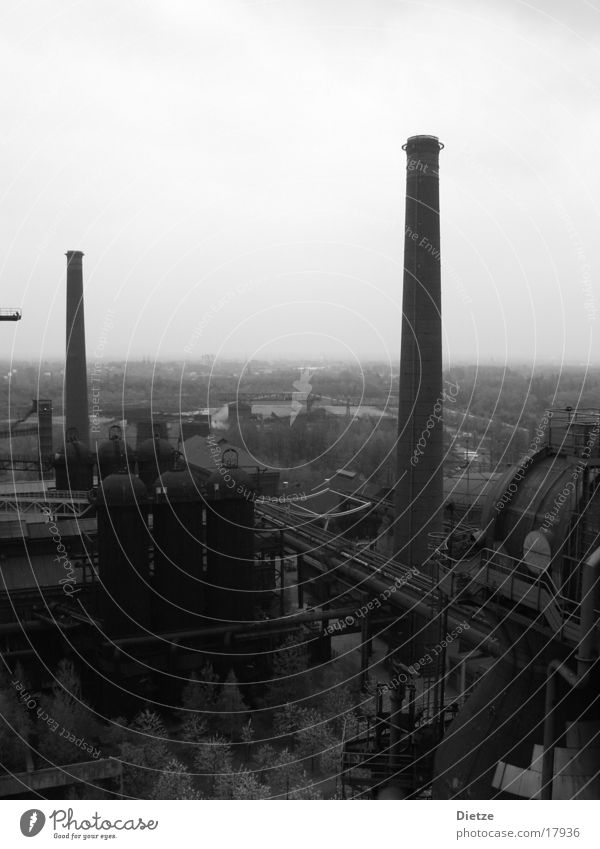 ironworks Ironworks The Ruhr Industry Black & white photo Chimney
