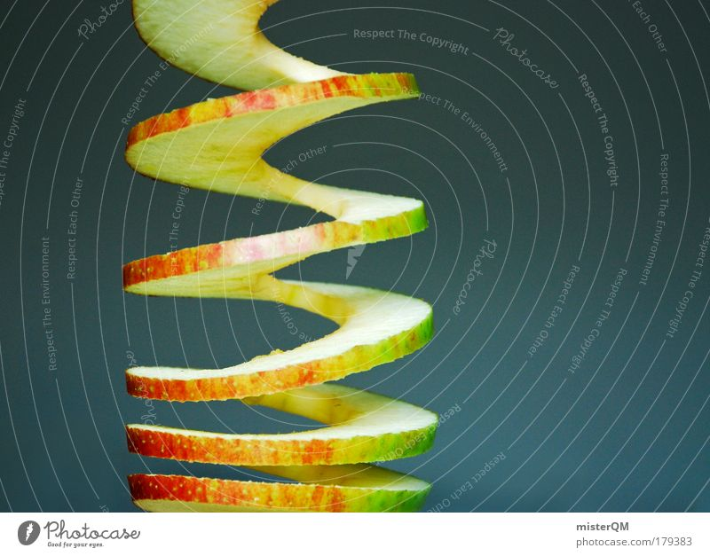 Nutrition Food Healthy Fruit Exceptional Design Esthetic Circle Light Creativity Apple Abstract Organic produce Spiral Diet Vitamin
