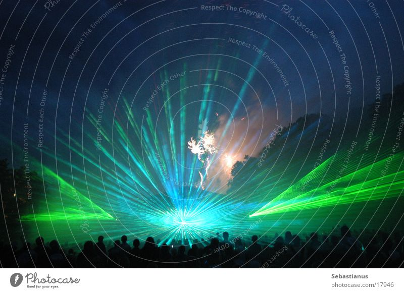 Leisure and hobbies Brave Firecracker Crowd of people Music festival Laser show