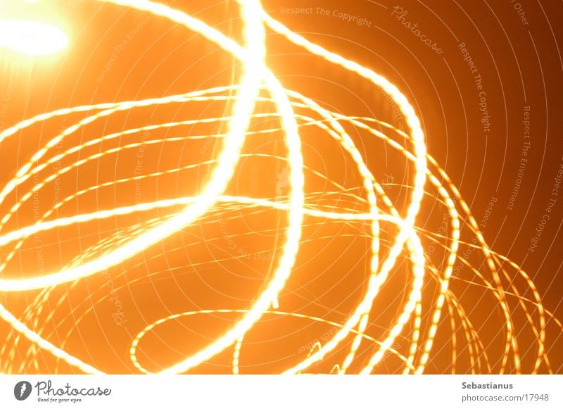 gyro lantern Street lighting Circle Long exposure Orange solar replacement