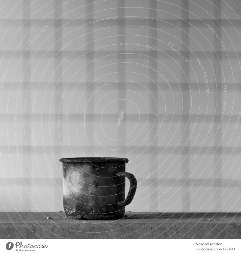 What remains Black & white photo Interior shot Deserted Copy Space left Copy Space right Copy Space top Neutral Background Day Light Contrast