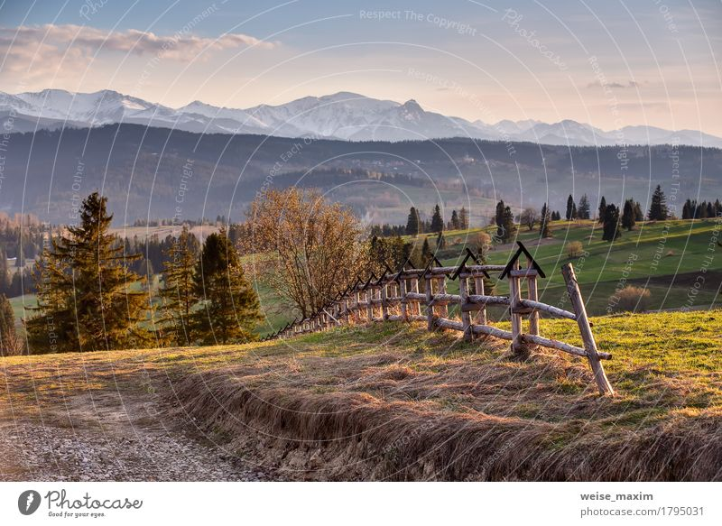 Spring countryside in Tatras mountains Beautiful Vacation & Travel Tourism Trip Far-off places Freedom Expedition Summer Summer vacation Snow Mountain Hiking