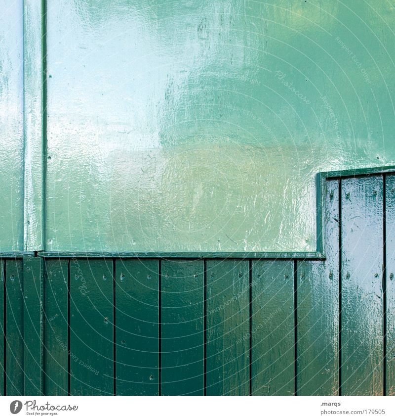 Green Colour Wall (building) Wood Wall (barrier) Line Glittering Facade Interior design Design Modern Fresh Stripe Living or residing Uniqueness Clean