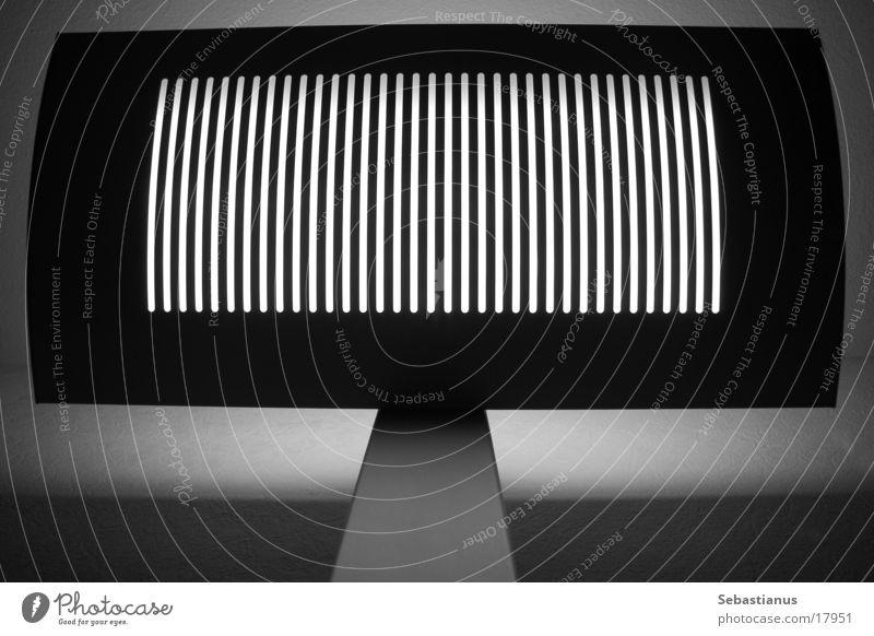 verticalLAMP Standard lamp Stripe Grating Grid Light Black & white photo