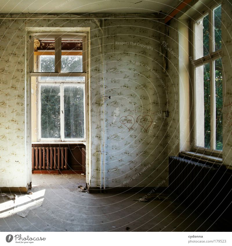 Loneliness House (Residential Structure) Window Life Sadness Interior design Dream Time Door Living or residing Change Transience Sign Moving (to change residence) Past Wallpaper
