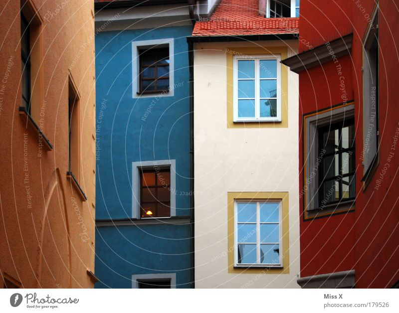 Beautiful City House (Residential Structure) Colour Wall (building) Window Architecture Wall (barrier) Building Facade Tall Roof Bavaria Historic Old town Play of colours