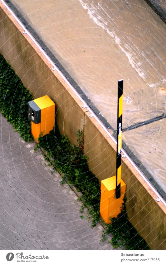 Barrier open Control barrier Parking lot Transport Parking level Electrical equipment Technology Street