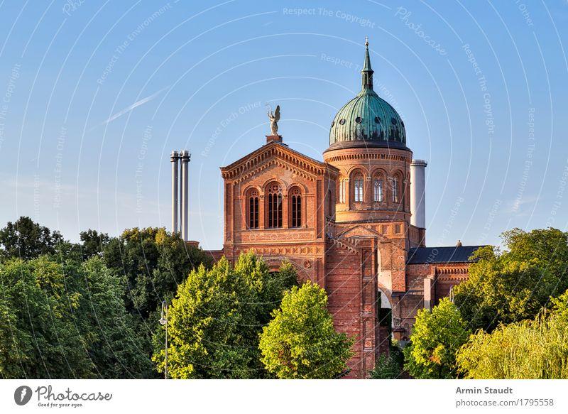 St. Michael Church, Berlin Kreuzberg Vacation & Travel Tourism Sightseeing City trip Summer Cloudless sky Spring Beautiful weather Tree Park Capital city
