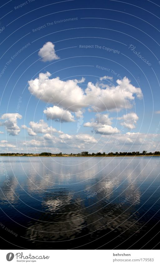 kalina kochana Colour photo Exterior shot Deserted Copy Space top Copy Space bottom Reflection Trip Far-off places Freedom Water Sky Clouds Summer