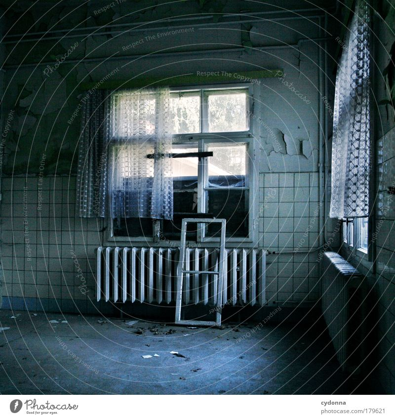 Calm House (Residential Structure) Loneliness Life Dark Wall (building) Death Window Dream Sadness Wall (barrier) Time Esthetic Kitchen Change