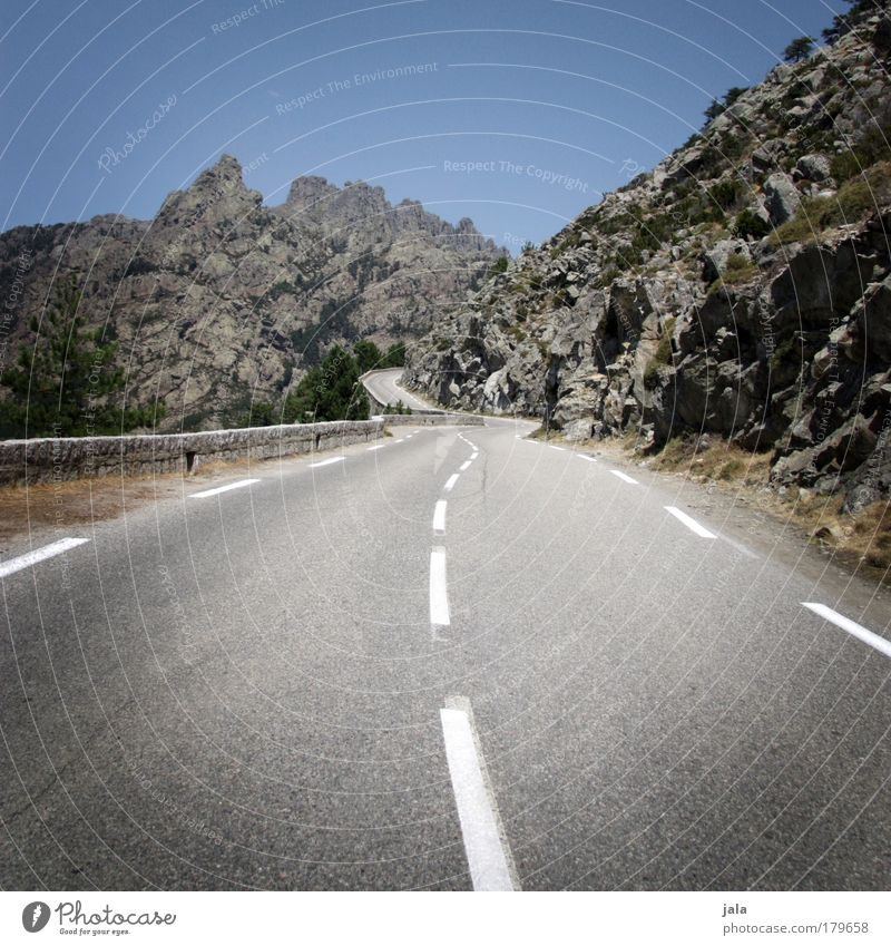 Sky Street Mountain Landscape Tall Trip Driving Travel photography Target Traffic infrastructure Curve Upward Motoring