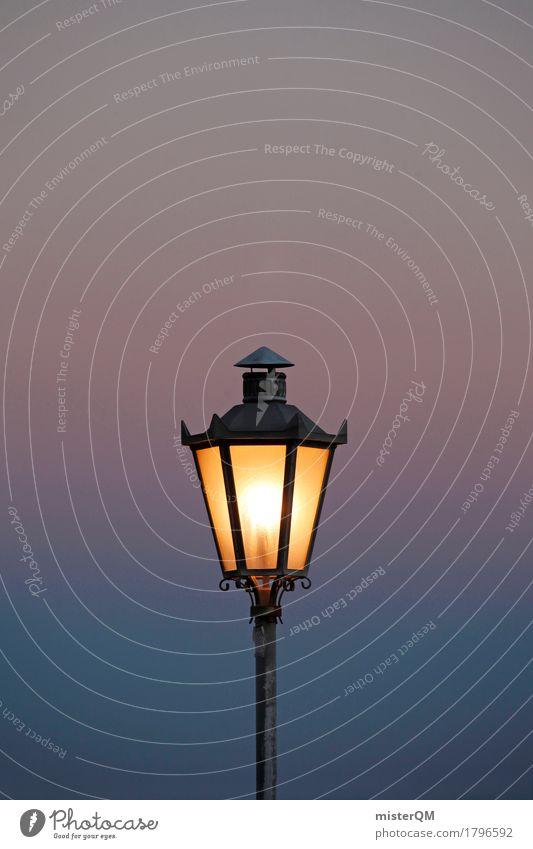luminescent Art Esthetic Light Light (Natural Phenomenon) Flare Visual spectacle Bright spot Lamp Lantern Lamp post Mediterranean Romance Dusk Dark Illuminate