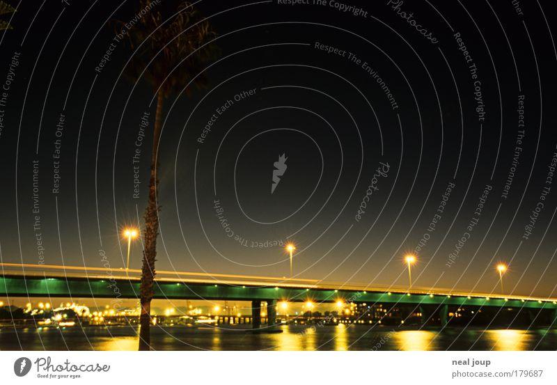 City Vacation & Travel Movement Lanes & trails Dream Esthetic Bridge Logistics Traffic infrastructure Night Night sky Port City