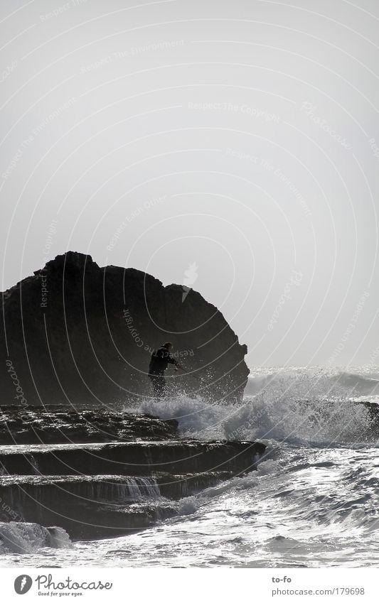 Human being Man Nature Water Sky Ocean Summer Beach Landscape Waves Coast Adults Wind Masculine Tourism Romance