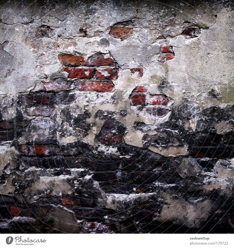 Old Loneliness Wall (building) Sadness Wall (barrier) Facade Poverty Living or residing Derelict Brick Border Shabby Divide Plaster Seam Captured