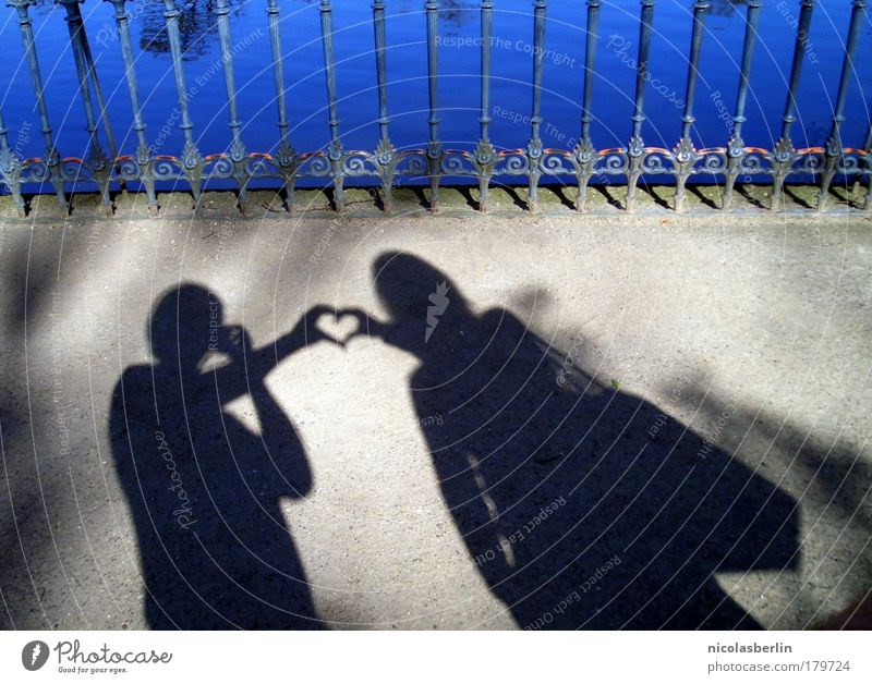 Love should be enough Exterior shot Copy Space right Copy Space bottom Neutral Background Day Shadow Contrast Silhouette Young woman Youth (Young adults)