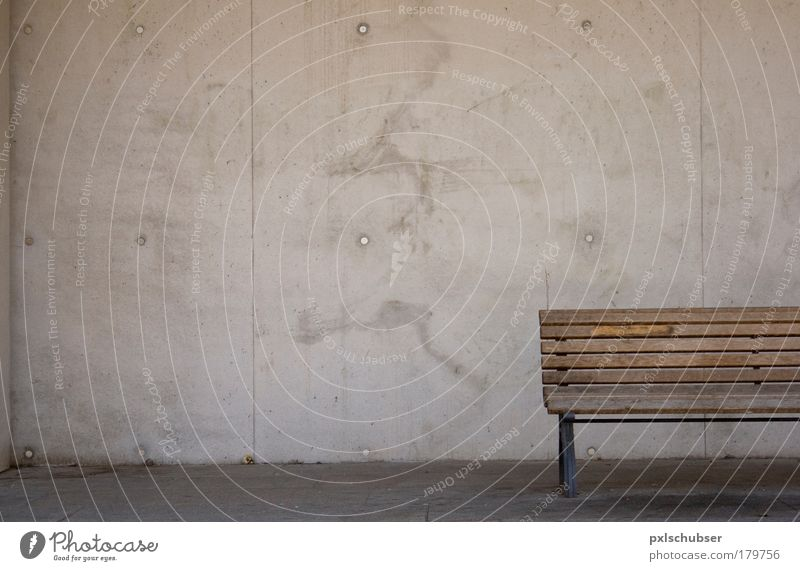 Relaxation Loneliness Wall (building) Architecture Wall (barrier) Gray Brown Moody Facade Design Park Elegant Free Wait Hope Chair