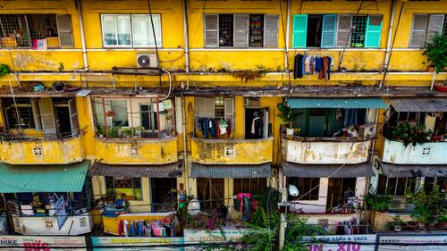 Front of houses in Ho Chi Minh City, Vietnam Tourism Living or residing Flat (apartment) House (Residential Structure) Saigon Asia Capital city Downtown
