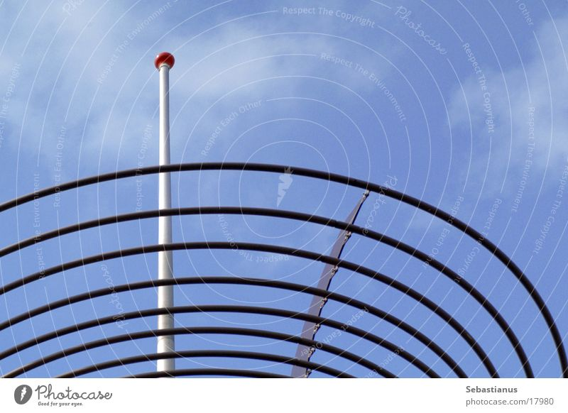 Sky Blue Architecture Roof Spiral Antenna Rod