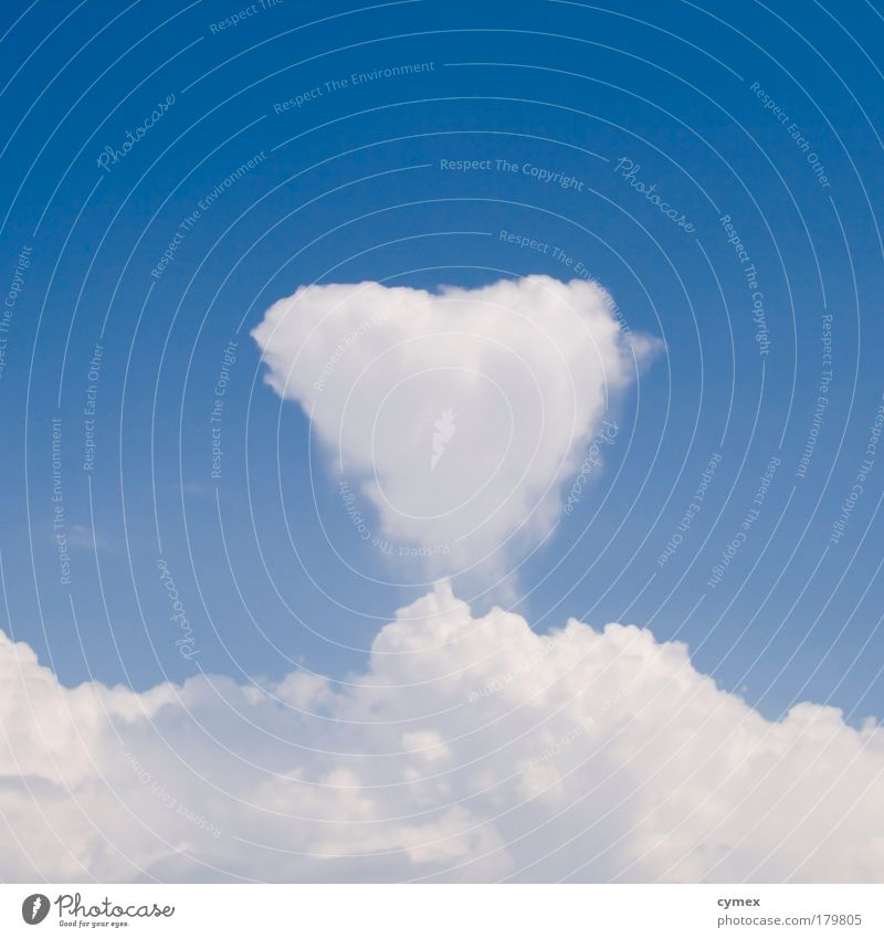 Sky White Blue Summer Love Clouds Emotions Happy Air Heart Weather Environment Romance Symbols and metaphors Elements Beautiful weather