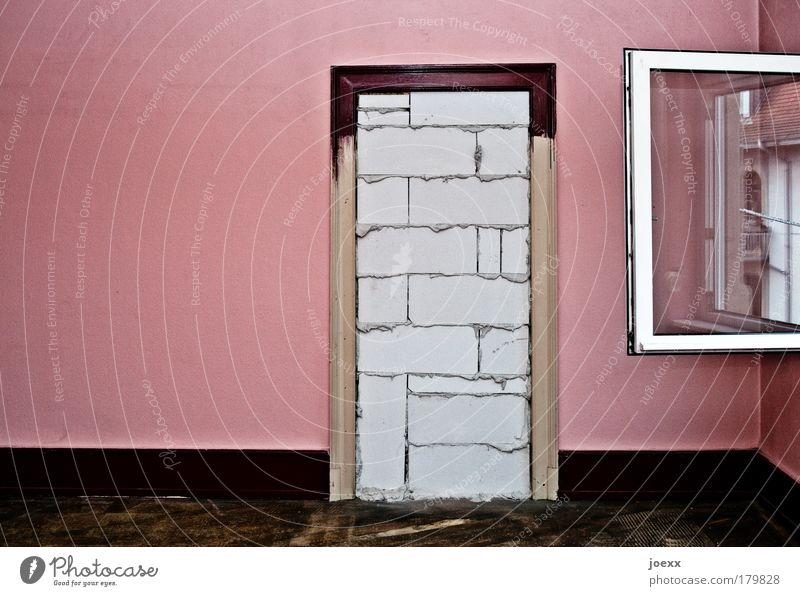 Old Wall (building) Window Stone Sadness Wall (barrier) Brown Room Fear Flat (apartment) Pink Glass Door Might Open Threat