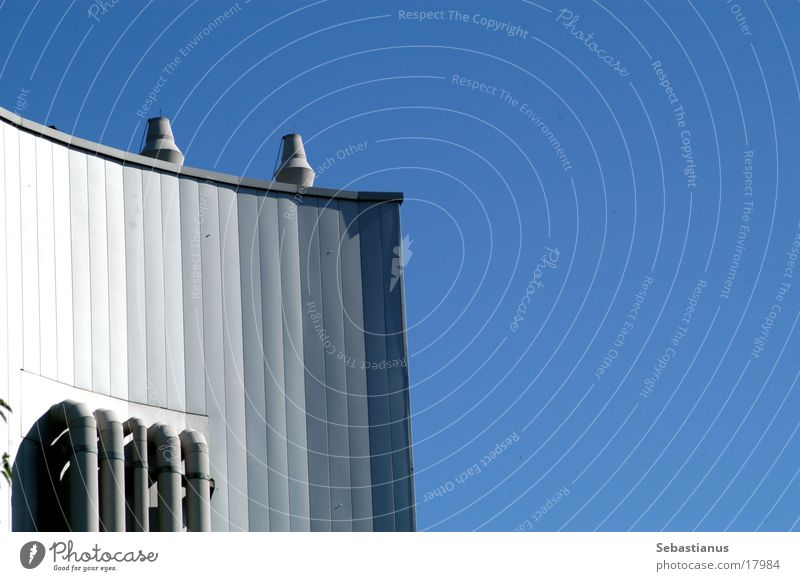 Architecture Academic studies Warehouse Chimney Heater Blue sky
