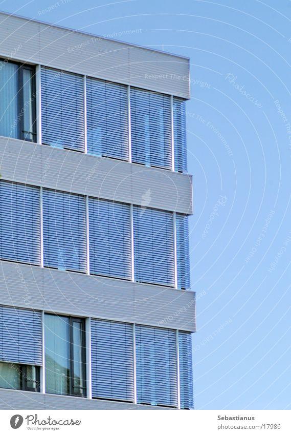 office building Window Aluminium Architecture Blue 3 floors Sky