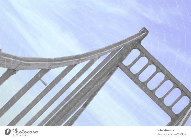 really, it´s a bridge Iron Krefeld Duisburg Car bridge Bridge River Rhine Connection