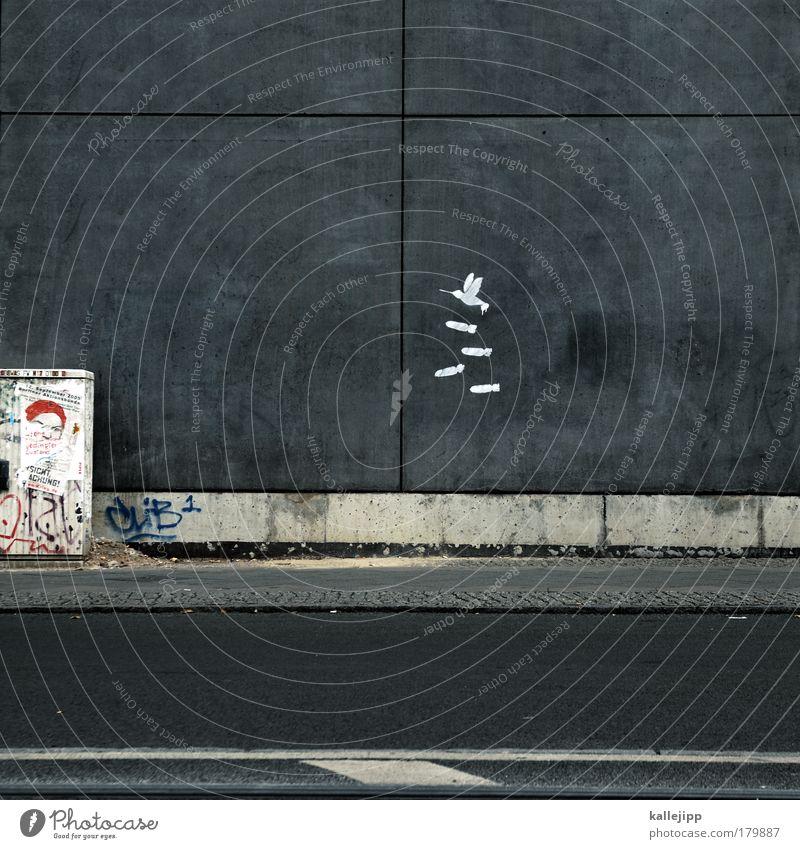 Animal Environment Architecture Graffiti Art Bird Fear Flying Design Dangerous Murder Human being Media Fear of death War