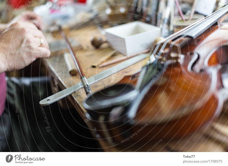 Violin making IIIIIII Style Music Work and employment Profession Craftsperson Human being Hand Art Artist Esthetic violin making violin maker Colour photo