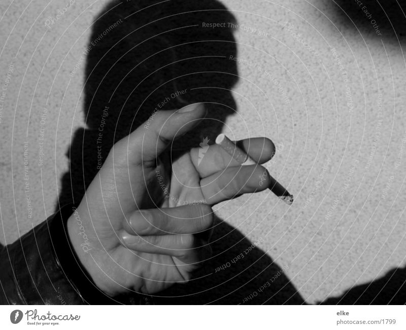 Man Hand Cigarette Gesture