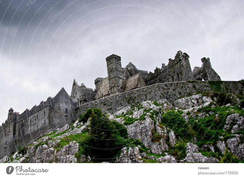 knight's castle Colour photo Exterior shot Deserted Copy Space top Day Church Castle Ruin Manmade structures Building Architecture Threat Dark Large Creepy Cold