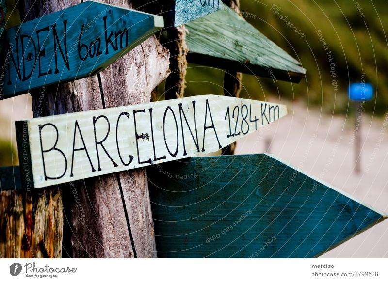 Barcelona Vacation & Travel Tourism Trip Adventure Far-off places Freedom City trip Summer Sun Beach Ocean Beach bar Coast Spain Signs and labeling
