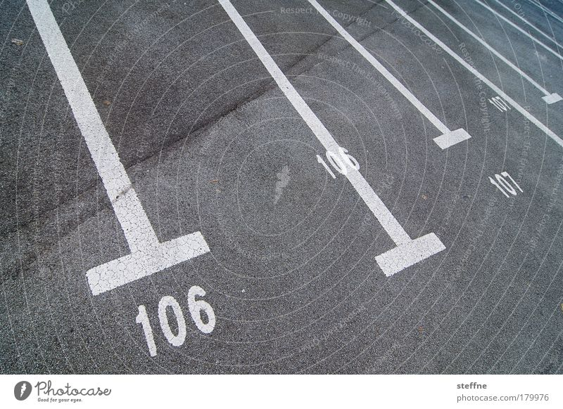 106 | 107 Exterior shot Experimental Deserted Motoring Parking lot Parking space number Parking reserved for women Digits and numbers