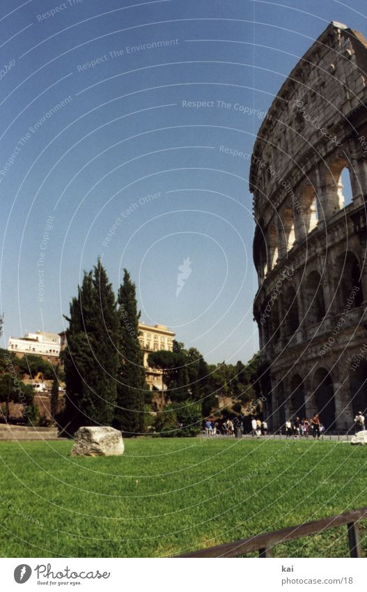 Vacation & Travel Italy Monument Historic Rome Antiquity Tourist Attraction Portrait format Cloudless sky Colosseum Ancient states Historic Buildings