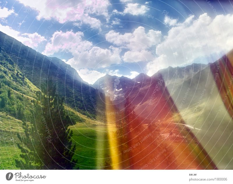 Nature Vacation & Travel Summer Loneliness Far-off places Mountain Environment Exceptional Dream Tourism Happiness Longing Alps Wanderlust Anticipation Drape