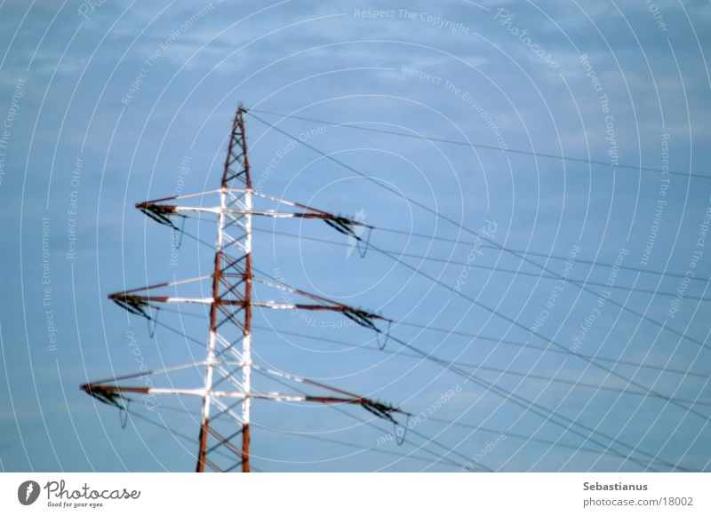 Sky Energy industry Technology Electricity pylon Transmission lines Mud flats Wire cable Electrical equipment