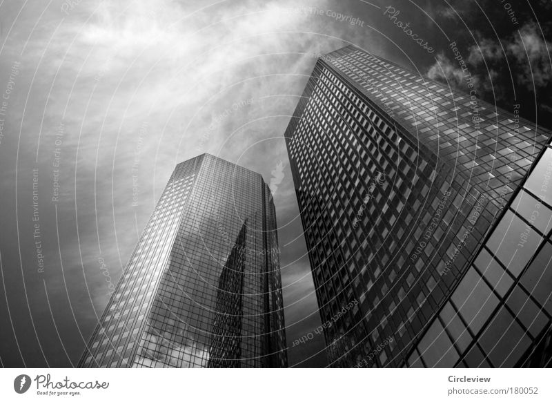 Sky City Clouds Architecture Building Business Living or residing High-rise Success Glass Concrete Future Might Financial institution Bank building Skyline