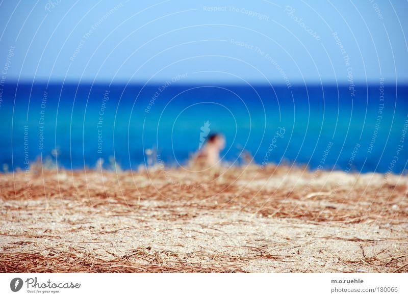 Blue Beach Sand Moody Horizon Going Sky blue