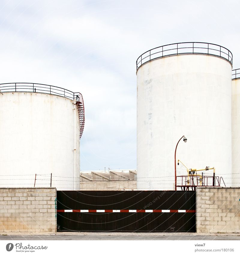 tank farm Colour photo Subdued colour Exterior shot Deserted Deep depth of field Long shot Industry Energy industry Port City Industrial plant Harbour
