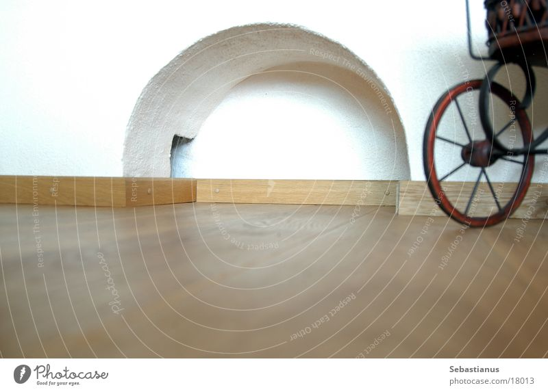 Wood Bicycle Living or residing Floor covering Living room Arch Parquet floor Baby carriage