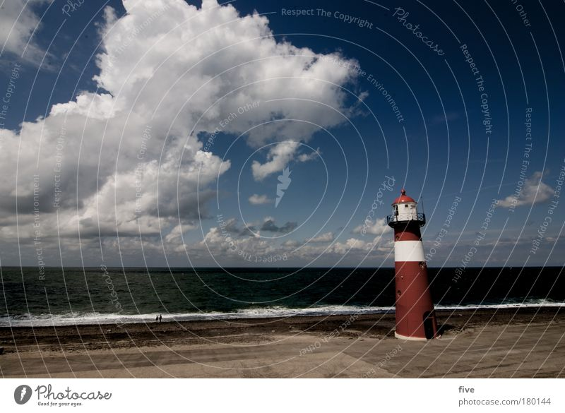Nature Water Sky Ocean Summer Clouds Landscape Moody Earth Waves Coast Horizon Earth Elements Lighthouse Beautiful weather